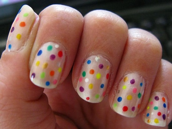 40 Inspiring Polka Dot Nail Art Designs Nail Design Ideaz
