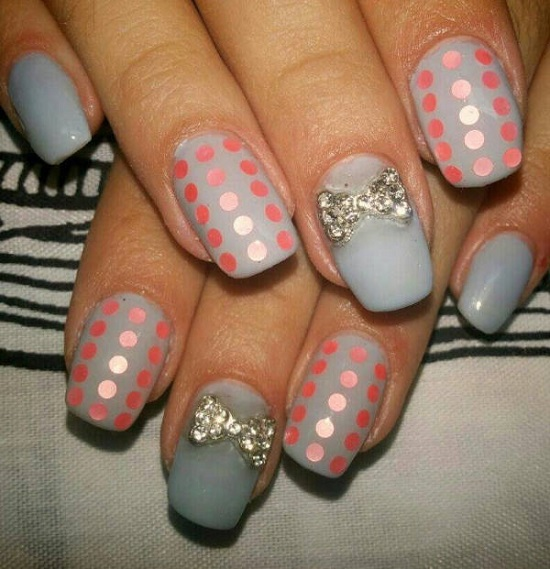 40 inspiring polka dot nail art designs nail design ideaz nail art designs prinsesfo Images