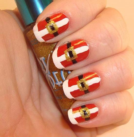 35 santa claus nail art designs nail design ideaz santa claus nails prinsesfo Choice Image