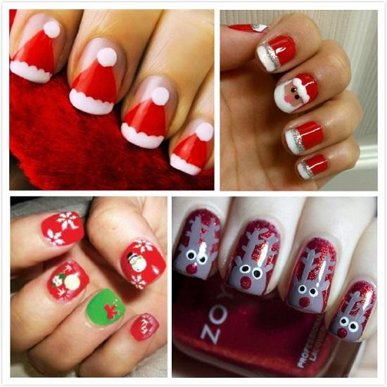 Santa Claus Nails - 35 Santa Claus Nail Art Designs Nail Design Ideaz