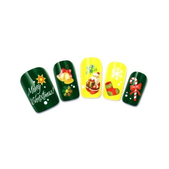 Santa Claus Nail Art