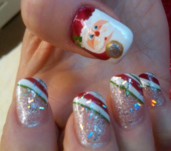 35 Santa Claus Nail Art Designs Nail Design Ideaz