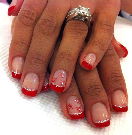 33 Amazing Snowflake Nail Arts Nail Design Ideaz