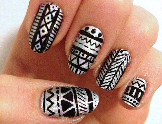 35 Unique Tribal Nail Art Designs Nail Design Ideaz