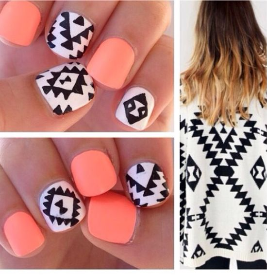 35 Unique Tribal Nail Art Designs | Nail Design Ideaz