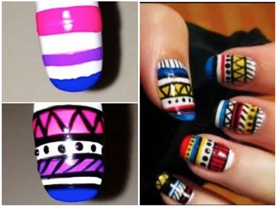 Tribal Nail Designs