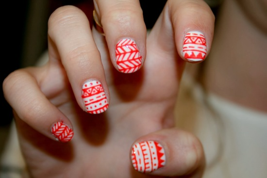 35 unique tribal nail art designs nail design ideaz tribal nails prinsesfo Image collections