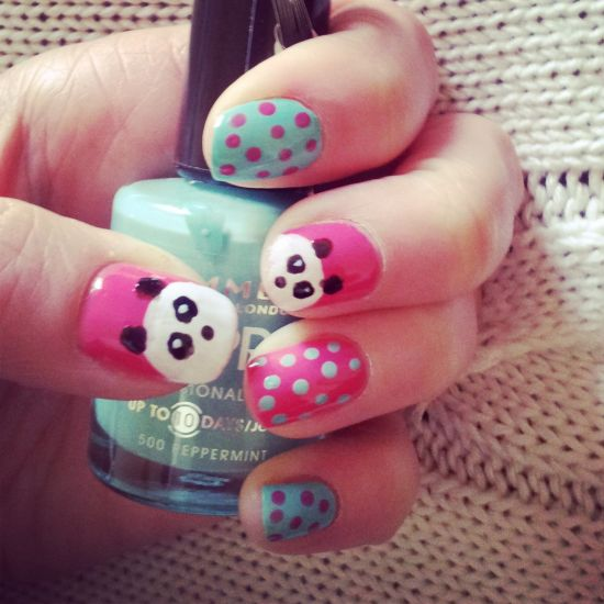 Panda Nail Designs