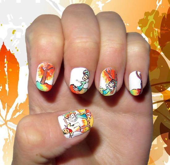 Cute Easy Fall Nail Designs: 50 Amazing Fall Nail Designs For 2014