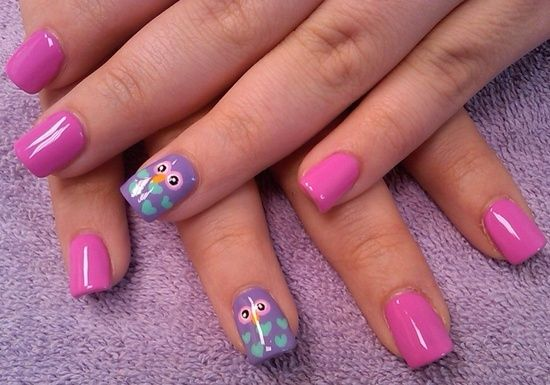 Owl Nail Designs - 40 Cute Owl Nail Art Designs Nail Design Ideaz