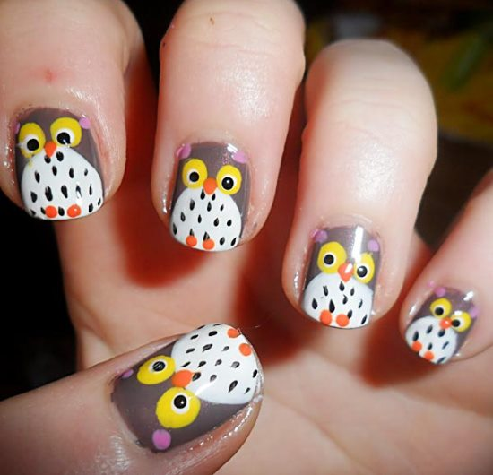 Owl Nail Art - 40 Cute Owl Nail Art Designs Nail Design Ideaz