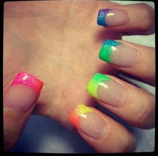 Rainbow Nail Designs - 40 Gorgeous Rainbow Nail Art Ideas Nail Design Ideaz