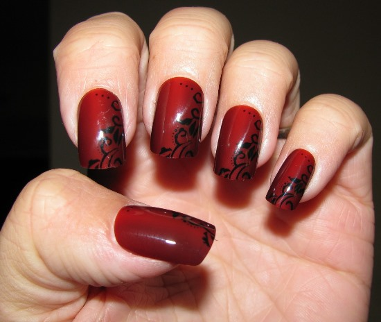 40 Red Wedding Nail Art Designs