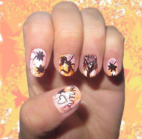 50 amazing fall nail designs for 2014 nail design ideaz fall nail designs 2014 prinsesfo Choice Image