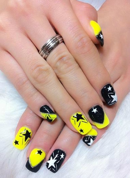 Yellow Nail Art - 45 Yellow Nail Art Ideas You Can Try Nail Design Ideaz