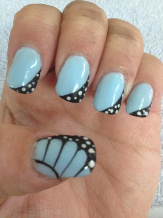 Blue Nail Art