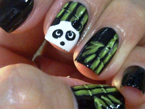 Panda nail design graham reid panda nail designs 40 cute panda nail art designs for winter nail design ideaz prinsesfo Images