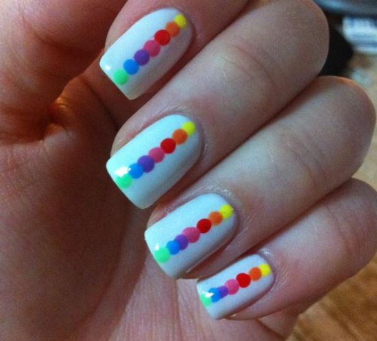 Rainbow Nails - 40 Gorgeous Rainbow Nail Art Ideas Nail Design Ideaz