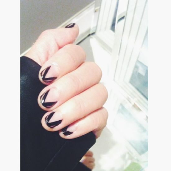 Negative Space Nails