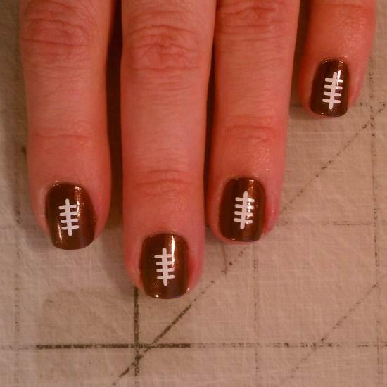 Top 40 football nail art designs nail design ideaz football nail art designs prinsesfo Images