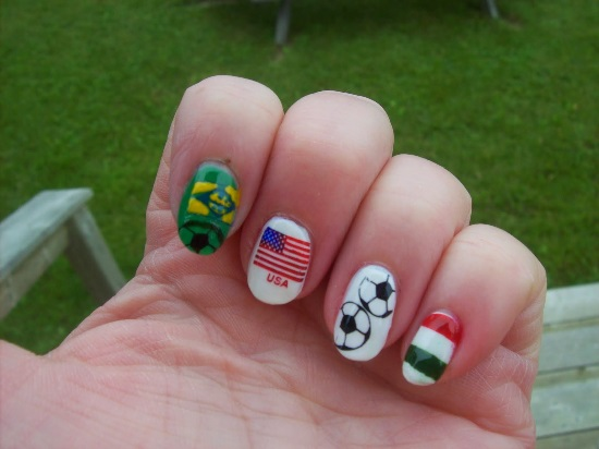 Top 40 Football Nail Art Designs Nail Design Ideaz