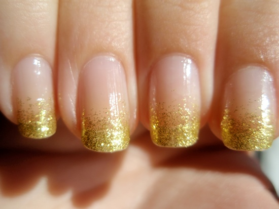 Glitter Nail Designs - 40 Beautiful Gold Glitter Nails Designs Nail Design Ideaz