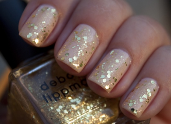 40 Beautiful Gold Glitter Nails Designs Nail Design Ideaz