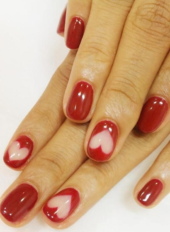 40 Heart Nail Designs For Valentine\'s Day | Nail Design Ideaz
