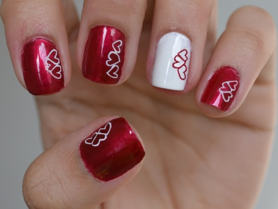 40 Heart Nail Designs For Valentines Day Nail Design Ideaz