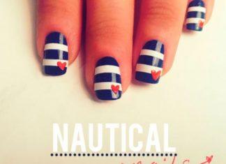 Nautical Nail Mani