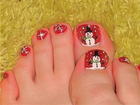35 winter toe nail art designs nail design ideaz toe nail art prinsesfo Image collections