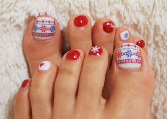 Winter Toe Nail Art - 35 Winter Toe Nail Art Designs Nail Design Ideaz