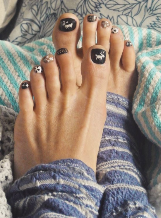 Toe Nail Art - 35 Winter Toe Nail Art Designs Nail Design Ideaz