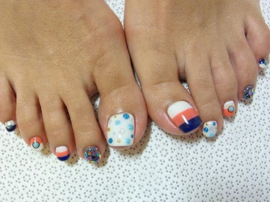 Toe Nail Designs - 35 Winter Toe Nail Art Designs Nail Design Ideaz