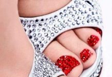 Winter Toe Nail Art