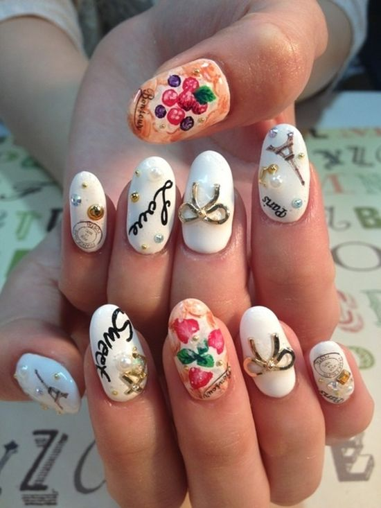 50 Stunning Japanese Nail Art Designs | Nail Design Ideaz