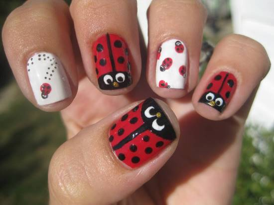 Lady Bug Nails Best Nail Designs 2018