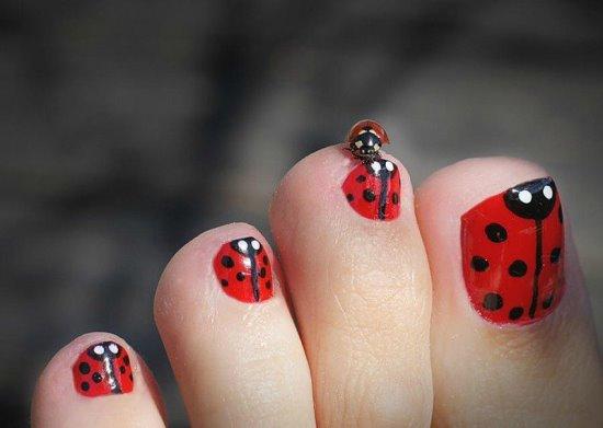 Ladybug Nail Designs - 42 Cute Ladybug Nail Art Designs Nail Design Ideaz