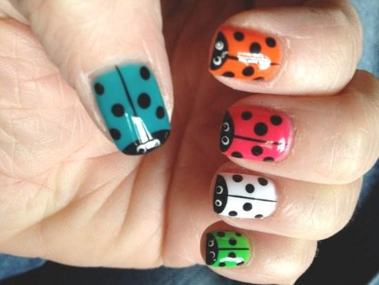 Ladybug Nail Art For Short Nails : Ladybug acrylic nails images