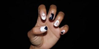 Negative space nails tutorial