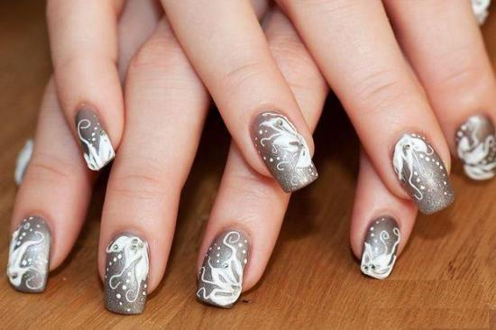 40 pretty silver nail art designs nail design ideaz silver nail designs prinsesfo Image collections