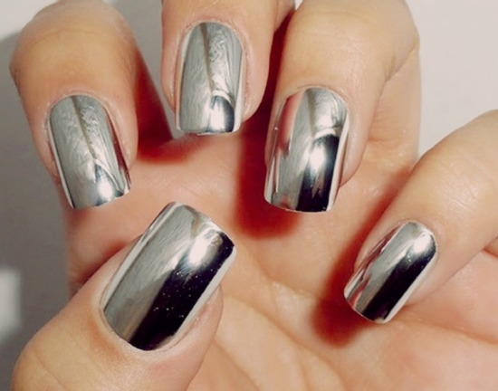 Nail Art Designs - 40 Pretty Silver Nail Art Designs Nail Design Ideaz