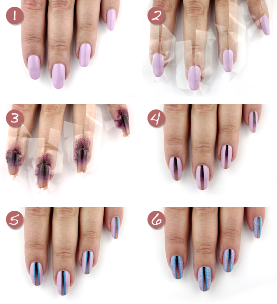 Gradient nail tutorial