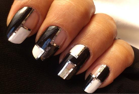 40 killer striping tape nail art designs nail design ideaz striping tape nail art prinsesfo Image collections