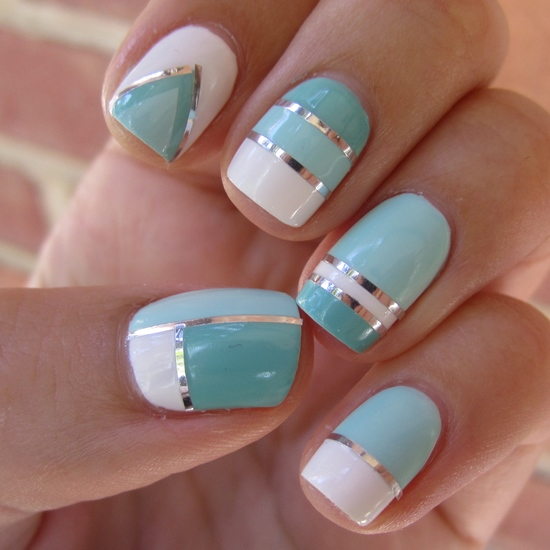 Striping Tape Nail Art - 40 Killer Striping Tape Nail Art Designs Nail Design Ideaz