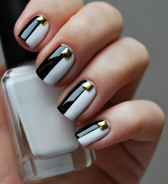 40 Black And White Nail Art Designs | Nail Design Ideaz