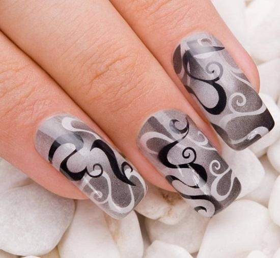 40 black and white nail art designs nail design ideaz black and white nail designs prinsesfo Gallery