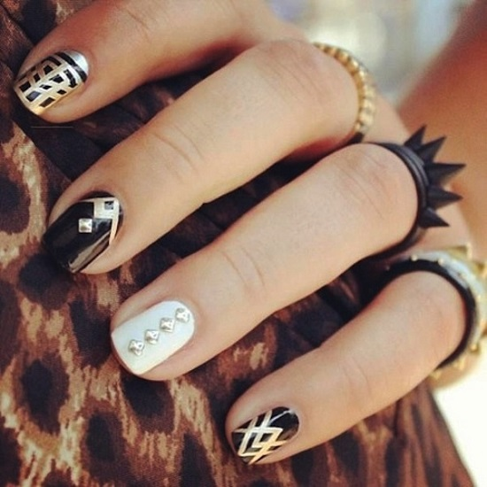 Black White Nail Designs - 40 Black And White Nail Art Designs Nail Design Ideaz