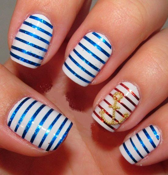Cute Nail Designs With Anchors Anchor Nail Art Designs