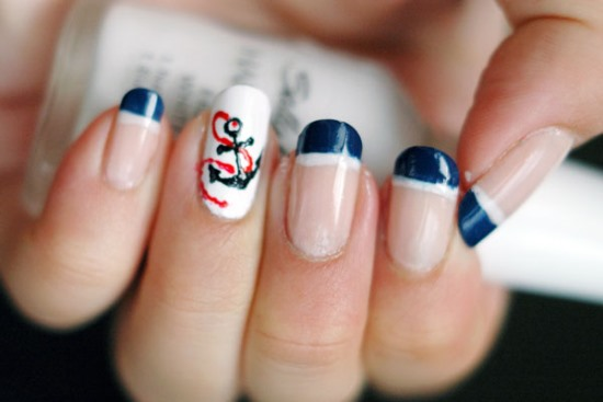 50 rocking anchor nail art designs nail design ideaz anchor nail art designs prinsesfo Gallery